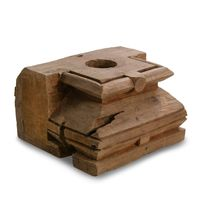 XSMALL OLD INDIAN WOODEN PILLAR-ASSORTED