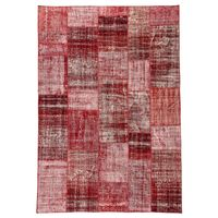 #892 DEEP RED L PATCHWORK RUG 210x305cm