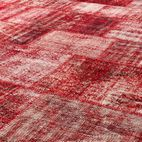 #892 DEEP RED L PATCHWORK RUG 210x305cm