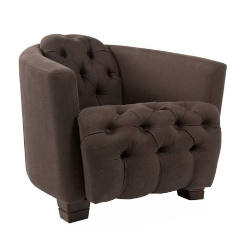 ##AMO STUDDED OCCASIONAL CHAIR IN CHOC