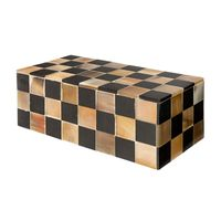 BLACK & ANTIQUE HORN BOX - 1 ONLY | VIC