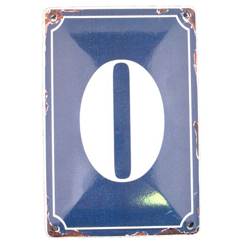 0 BLUE TIN NUMBER 10.3x5.3cm