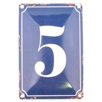 5 BLUE TIN NUMBER 10.3x5.3cm
