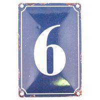 6 BLUE TIN NUMBER 10.3x5.3cm