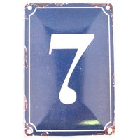 7 BLUE TIN NUMBER 10.3x5.3cm