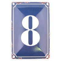 8 BLUE TIN NUMBER 10.3x5.3cm