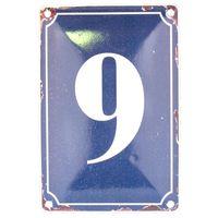 9 BLUE TIN NUMBER 10.3x5.3cm