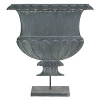 PEWTER FLAT URN ON STAND DESIGN #3 39x35