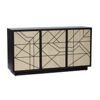 ##ABSTRACT SIDEBOARD - BONE INLAY w/BLK