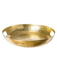 PERO BRASS FINISH TRAY w/HANDLE D41H7cm