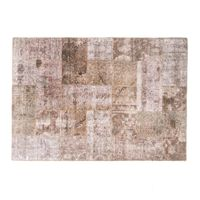 PATCH HAND KNOTTED WOOL RUG 241x171cm