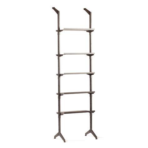 STEP BOOK STAND W/5 METAL SHELVES H220cm
