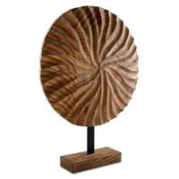 WOODEN ROUND CARVING SMALL 53x45cm
