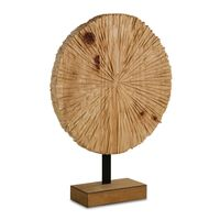 WOODEN ROUND CARVING SMALL 53x40cm