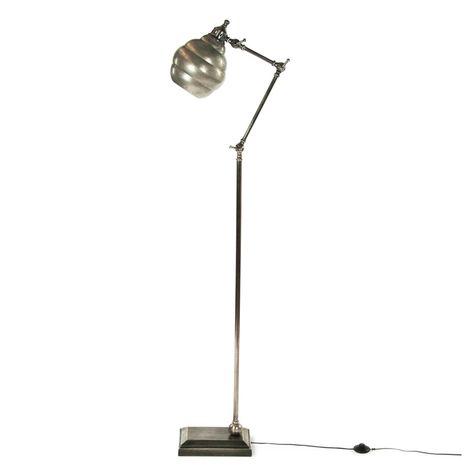 JANNE ALUM W/PEWTER FINISH FLOOR LAMP