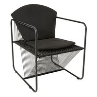 KUBUS IN/OUTDOOR BLACK CHAIR w/CUSHION