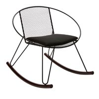 NIELSN BLACK IN/OUTDOOR ROCKING CHAIR