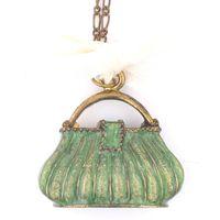 SML GREEN HANGING BAG 4.5x1.9x4.3cm