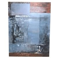 OIL PAINTING #2 BLUE/NATURAL 174x153cm