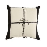 MALA HANDWOVEN WHITE/BLK CUSHION 45x45cm