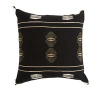 KATO HANDWOVEN BLK/WHT CUSHION 45x45cm