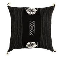 ZUZU HANDWOVEN BLK/WHT CUSHION 45x45cm