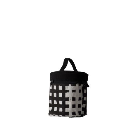 GRIDLOCK LARGE ROUND MAKEUP BAG 15x18cm