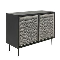 ##JORJA SIDEBOARD in BONE INLAY w/BLACK