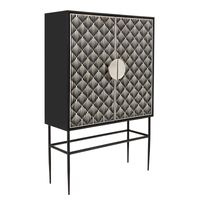 ##TASMA CABINET in BONE INLAY w/BLACK