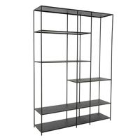 ##SANNA BLACK POWDER COAT BOOKCASE