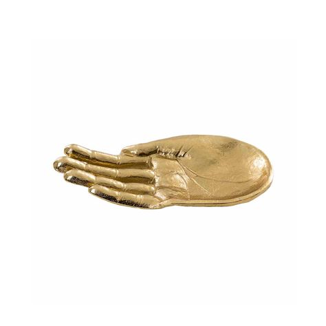 BRASS PAINTED HAND CATCHALL 16.5x9x2cm