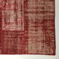 #000 TOMATO RED PATCHWORK RUG 210X308cm