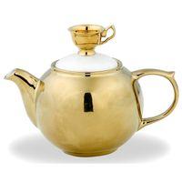 MEDIUM TEAPOT - GOLD W/GOLD TEA CUP