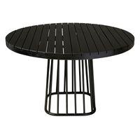 ##AVALON OUTDOOR BLACK TEAK TABLE