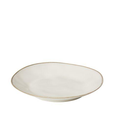 'CREMA' CERAMIC DINNER PLATE - CREAM