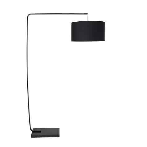 SQ ARC FLOOR LAMP BLACK H170W102D45cm