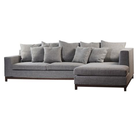BAILEY GREY SOFA - RHS | COVER ONLY