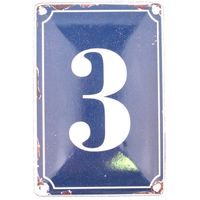 3 BLUE TIN NUMBER 10.3x5.3cm