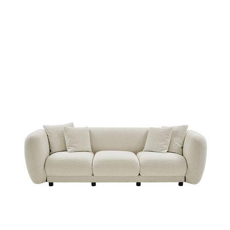 ##PALOME CREAM BOUCLE SOFA  3 SEAT