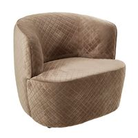 AXEL CHAIR in MINK QUILTED VELVET