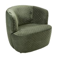 AXEL CHAIR in MOSS GREEN QUILTED VELVET