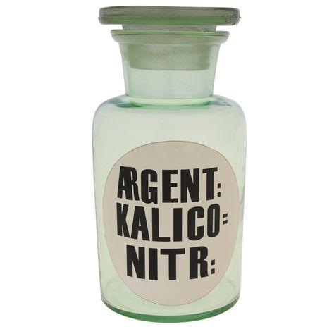 GLS BTL 'AGENT KALICO NITR'-GRN H14xD7cm