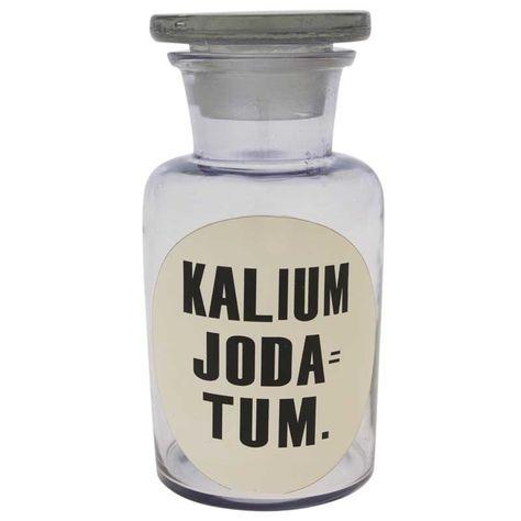 GLS BTL 'KALIUM JODA TUM'-PURPLE H14cm