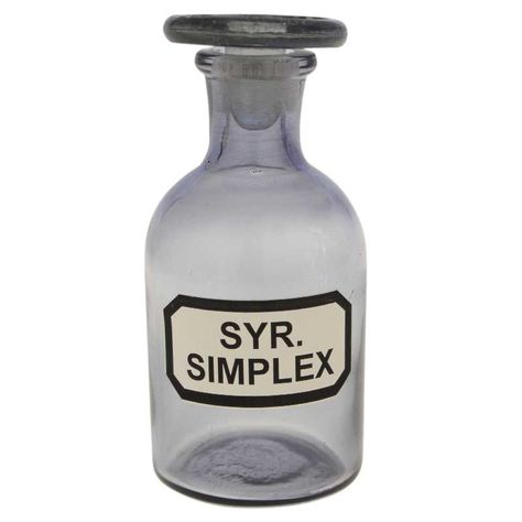 GLASS BOTTLE 'SYR SIMPLEX'-BLUE H12xD5cm