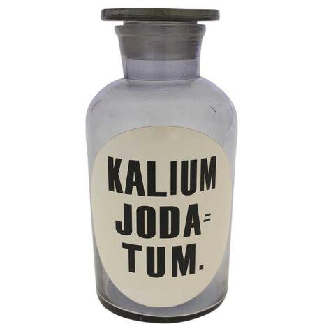 GLS BTL 'KALIUM JODA TUM'-BLUE H21xD10.5