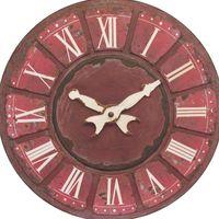 ANTIQUE RED LARGE DISPLAY CLOCK Dia119cm
