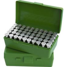 MTM 50RND HANDGUN AMMO BOX 44MAG 44SPL 45LC GREEN