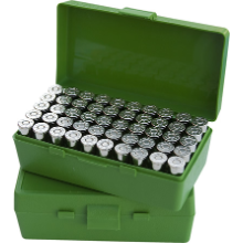 MTM 50RND HANDGUN AMMO BOX 10MM 45ACP 40S&W GREEN
