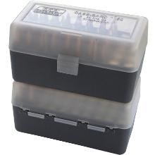 MTM 50RND AMMO BOX 220 SWIFT 30-06-458 CLEAR SMOKE