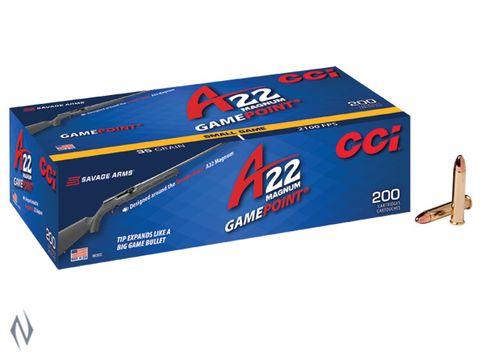 CCI 22WMR GAMEPOINT 35GR A22 2100FPS 200 PK